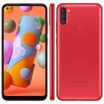 "Smartphone Samsung Galaxy A11 6.4"" 64GB Câmera Tripla 13MP + 5MP + 2MP -"