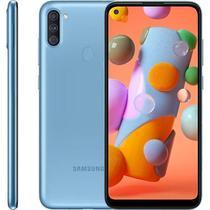 "Smartphone Samsung Galaxy A11, 6,4"", 64 GB, Câmera Tripla, Azul -"
