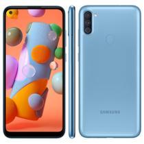 """Smartphone Samsung Galaxy A11 64 GB - Azul, 4G, Câmera Tripla 13MP + Selfie 8MP, Processador Octa-core, RAM 3GB, Tela 6.4"""" -"""