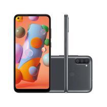 "Smartphone Samsung Galaxy A11 64GB 3GB RAM Câmera Tripla 13MP Tela 6.4"" - Preto -"