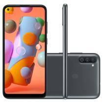 Smartphone Samsung Galaxy A11 64GB Dual Câmera Tripla 13MP 5MP 2MP Frontal 8MP Android 10.0 Preto -