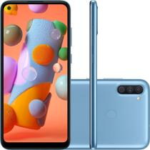 Smartphone Samsung Galaxy A11 64GB Dual Chip 3GB RAM Android Tela Infinita 6.4 Octa Core Câmera Tripla 13MP + 5MP +2MP - Azul -
