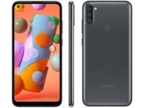 Smartphone Samsung Galaxy A11 64GB Dual Chip 3GB RAM Android Tela Infinita 6.4 Octa Core Câmera Tripla 13MP + 5MP +2MP - Preto -