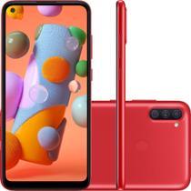 Smartphone Samsung Galaxy A11 64GB Dual Chip 3GB RAM Android Tela Infinita 6.4 Octa Core Câmera Tripla 13MP + 5MP +2MP - Vermelho -