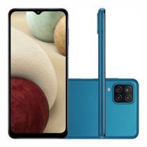 """Smartphone Samsung Galaxy A12 64 GB - Azul, 4G, Câmera Quadrupla 48MP + Selfie 8MP, Processador Octa-core, RAM 4GB, Tela 6.5"""" -"""