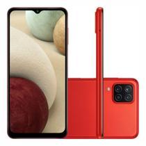"""Smartphone Samsung Galaxy A12 64 GB - Vermelho, 4G, Câmera Quadrupla 48MP + Selfie 8MP, Processador Octa-core, RAM 4GB, Tela 6.5"""" -"""