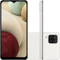Smartphone Samsung Galaxy A12 64GB 4G Wi-Fi Tela 6.5'' Dual Chip 4GB RAM Câmera Quádrupla - Branco -