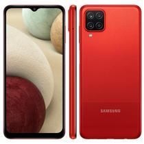 """Smartphone Samsung Galaxy A12 64GB 4GB RAM Câmera Quádrupla Tela Infinita 6.5"""" Dual Chip Vermelho -"""