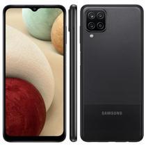 """Smartphone Samsung Galaxy A12 64GB 4GB RAM Câmera Quádrupla Tela Infinita de 6.5"""" Preto -"""