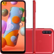 """Smartphone Samsung Galaxy A12 64GB Dual Chip com Dual Messenger Android 10 Tela 6.5"""" Octa-Core 4G Câmera Quádrupla 48MP+5MP+2MP+2MP VERMELHO UN -"""