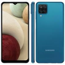 "Smartphone Samsung Galaxy A12 64GB Dual Tela 6.5"" Câmera Quádrupla 48MP+5MP+2MP+2MP Azul -"
