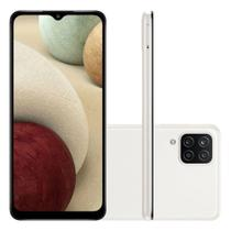 "Smartphone Samsung Galaxy A12 64GB Dual Tela 6.5"" Câmera Quádrupla 48MP+5MP+2MP+2MP Branco -"