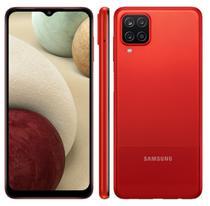 Smartphone Samsung Galaxy A12 64GB Tela 6.5'' Dual Chip 4GB RAM Câmera Quádrupla - Vermelho -