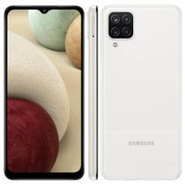 "Smartphone Samsung Galaxy A12 Branco 64GB, Tela Infinita de 6.5"", Câmera Quádrupla 48MP+5MP+2MP+2MP, Frontal de 8MP, Bateria 5000mAh, 4GB RA -"