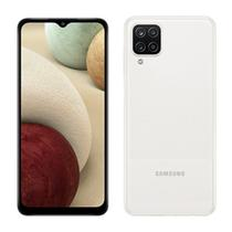 "Smartphone Samsung Galaxy A12, Branco, Tela 6.5"", 4G+Wi-Fi, Android 10, Câm Traseira 48+5+2+2MP, Frontal 8MP, 64GB -"