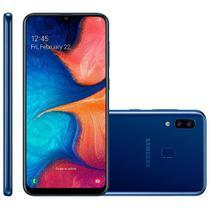 Smartphone Samsung Galaxy A20, 32GB, 13MP + 5MP, 4G, Dual Chip, Azul - A205G -