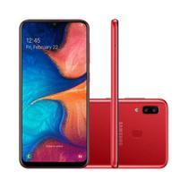 Smartphone Samsung Galaxy A20 32GB 4G 3GB RAM 6.4 Polegadas Câmera Dupla Câmera Selfie 8MP -