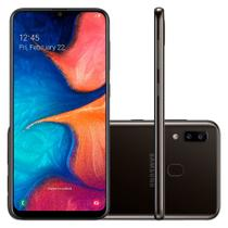 "Smartphone Samsung Galaxy A20 32GB Dual Chip 4G Tela 6,4"" Câmera 13MP e 5MP Frontal 8MP Android 9.0 Preto -"