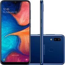 "Smartphone Samsung Galaxy A20 32GB Dual Chip Android 9.0 Tela 6.4"" Octa-Core 4G Câmera Dupla 13MP + 5MP - Azul -"
