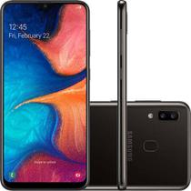 "Smartphone Samsung Galaxy A20 32gb Dual Chip Android 9.0 Tela 6.4"" Octa-core 4g Câmera Dupla 13mp + 5mp - Preto -"