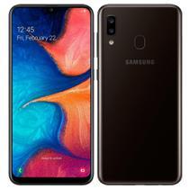 "Smartphone Samsung Galaxy A20, Dual Chip, 6.4"", 4G, Android, Cam dupla 13MP+5MP, 32GB - Preto -"
