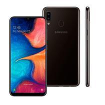 """Smartphone Samsung Galaxy A20, Preto, A205G, 6,4"""", 32GB, 13MP+5MP -"""
