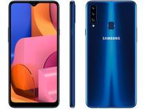 "Smartphone Samsung Galaxy A20s 32GB Azul 4G - 3GB Tela 6,5"" RAM Câm. Tripla + Câm. Selfie 8MP"