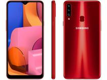 "Smartphone Samsung Galaxy A20s 32GB Vermelho 4G - 3GB RAM Tela 6,5"" Câm. Tripla + Selfie 8MP"