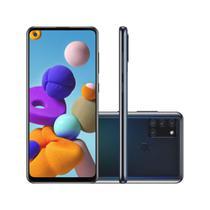 """Smartphone Samsung Galaxy A21s 64GB 4GB RAM Câmera Quádrupla 48MP Tela 6.5"""" - Preto -"""