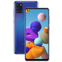 "Smartphone Samsung Galaxy A21s 64GB 6,5"" Câmera Quádrupla 48MP 8MP 2MP 2MP Frontal 13MP Azul -"