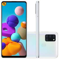Smartphone Samsung Galaxy A21s 64GB Dual Chip 4GB RAM Tela 6.5 Octa Core Câm. Quádrupla 48MP + 8MP + 2MP + 2MP - Branco -