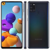 "Smartphone Samsung Galaxy A21s 64GB Dual Chip 4GB RAM Tela 6.5"" Octa Core Câm. Quádrupla 48MP + 8MP + 2MP + 2MP - Preto -"