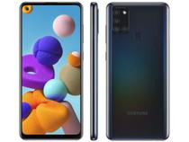 "Smartphone Samsung Galaxy A21s 64GB Preto 4G - 4GB RAM 6,5"" Câm. Quádrupla + Selfie 13MP -"