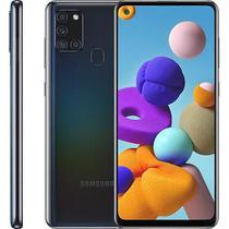 """Smartphone Samsung Galaxy A21S, 6,5"""", 64 GB, Câmera Quádrupla, Preto -"""