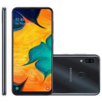 Smartphone Samsung Galaxy A30, 64 GB, 16MP + 5MP, 4G, Dual Chip, Preto - A305G -