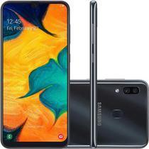 Smartphone Samsung Galaxy A30, 64GB, 16MP, Tela 6.4 Pol, Preto - SM-A305GT/6DL -
