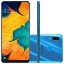 """Smartphone Samsung Galaxy A30 64GB 6.4"""" Dual Chip 4G Azul -"""