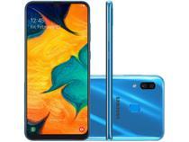 "Smartphone Samsung Galaxy A30 64GB Azul 4G - 4GB RAM 6,4"" Câm. Dupla + Câm. Selfie 16MP"