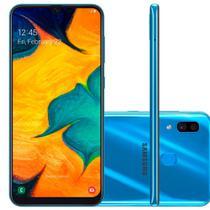 "Smartphone Samsung Galaxy A30 64GB Dual Chip 4G Tela 6,4"" Câmera 16MP e 5MP Frontal 16MP Android 9 Azul -"