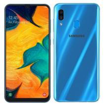 "Smartphone Samsung Galaxy A30, Dual Chip, 6.4"", 4G, Android, Cam dupla 16MP+5MP, 64GB - Azul -"