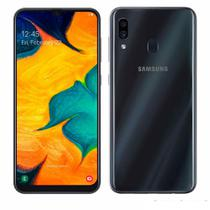 "Smartphone Samsung Galaxy A30, Preto , A305GT, 6,4"", 64GB, 16MP+5MP -"