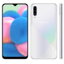 """Smartphone Samsung Galaxy A30s 64GB Dual Chip Android 9.0 Tela 6.4"""" Octa-Core 4G Câmera Tripla 25MP + 5MP + 8MP - Branco + cartão de memória 32 GB -"""