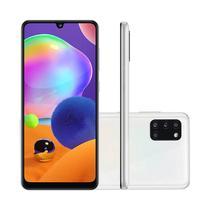 "Smartphone Samsung Galaxy A31 128GB 4GB RAM Tela 6,4"" Câmera Quádrupla Traseira 48MP + 5MP + 8MP + 5MP Frontal de 20MP Bateria 5000mAh Branco -"