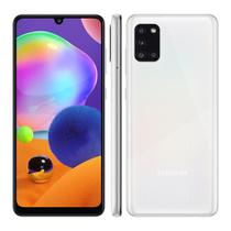 "Smartphone Samsung Galaxy A31 128GB - Branco, 4G, Câmera Quadrupla 48MP + Selfie 20MP, RAM 4GB, Tela 6.4"" -"
