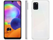 "Smartphone Samsung Galaxy A31 128GB Branco 4G - Octa-Core 4GB RAM Tela 6,4"" Câm.Quádrupla + Selfie -"