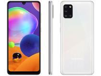 "Smartphone Samsung Galaxy A31 128GB Branco 4G - Octa-Core 4GB RAM Tela 6,4"" Câm.Quádrupla + Selfie"
