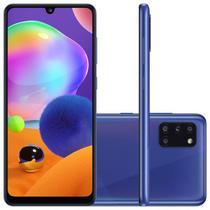 """Smartphone Samsung Galaxy A31 Azul Dual Chip Câmera Quádrupla Tela Infinita 6.4"""" 128G 4GB RAM -"""