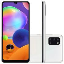 """Smartphone Samsung Galaxy A31 Branco Dual Chip Câmera Quádrupla Tela Infinita 6.4"""" 128G 4GB RAM -"""
