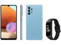 Smartphone Samsung Galaxy A32 128GB Azul 4G - 4GB RAM + Smartband Galaxy Fit2 Preto