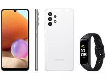 Smartphone Samsung Galaxy A32 128GB Branco 4G - 4GB RAM + Smartband Galaxy Fit2 Preto